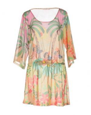 Короткое платье AGOGOA. Цвет: песочный