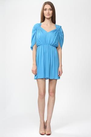 Платье Halston Heritage. Цвет: голубой