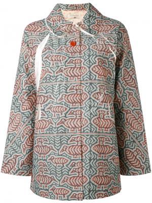 Пиджак с орнаментом на пуговицах Cotélac. Цвет: зелёный