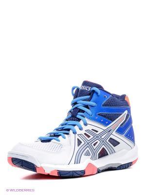 Волейбольные кроссовки GEL-TASK MT ASICS. Цвет: синий, коралловый, белый