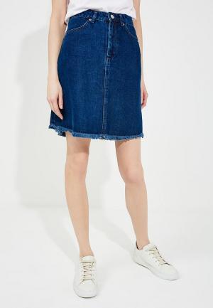 Юбка джинсовая French Connection. Цвет: синий