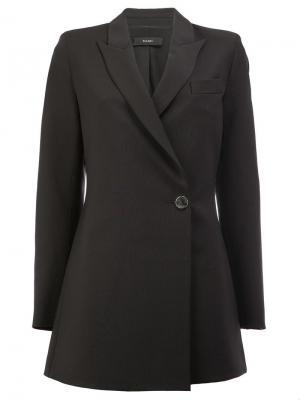 Пальто с запахом Ellery. Цвет: чёрный