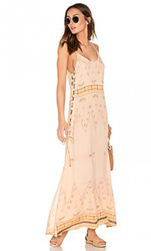 Платье-комбинация klemence Cleobella. Цвет: персиковый