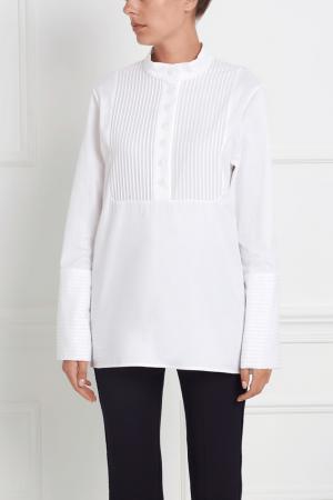 Хлопковая рубашка San Marco MoS. Цвет: белый