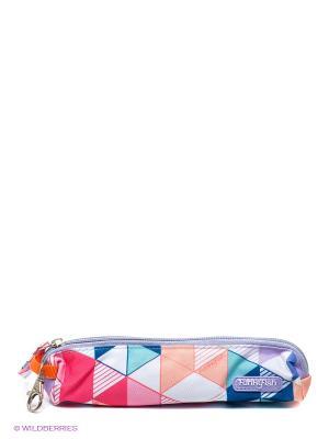 Пенал Funky Fish. Цвет: синий, розовый, белый