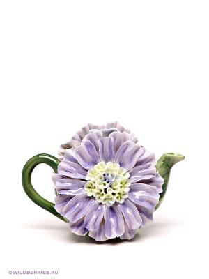 Заварочный чайник Pavone. Цвет: зеленый, сиреневый