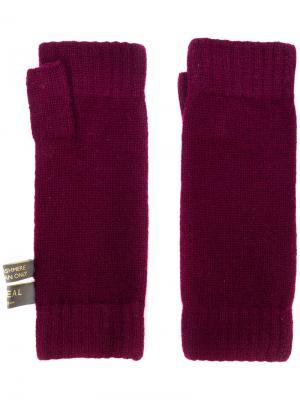 Перчатки-митенки N.Peal. Цвет: розовый и фиолетовый