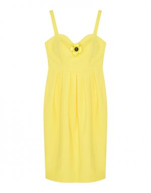 Однотонное платье Boutique Moschino. Цвет: желтый