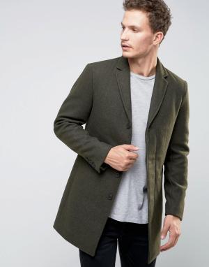 Selected Homme Пальто. Цвет: зеленый