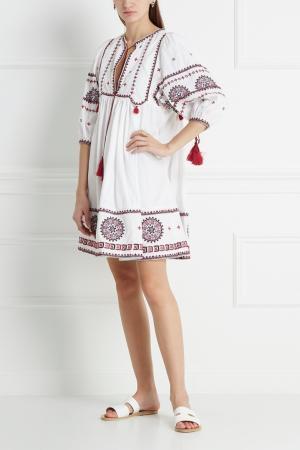 Хлопковое платье Talitha. Цвет: белый, розовый