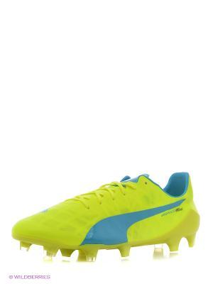 Бутсы evoSPEED SL FG Puma. Цвет: желтый