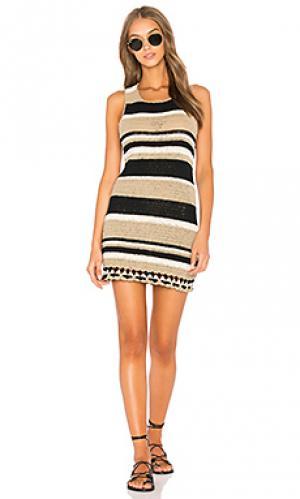Платье camelle SIR the label. Цвет: серо-коричневый