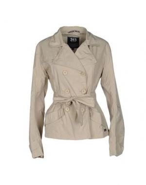 Легкое пальто 313 TRE UNO. Цвет: бежевый