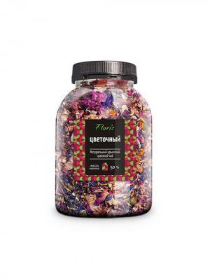 Floris Натуральный крымский чай Цветочный, банка ПЭТ, 50 гр. Цвет: прозрачный