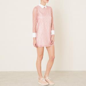 Платье из кружева SISTER JANE. Цвет: розовый