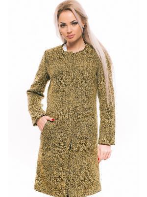 Пальто Issa Plus. Цвет: желтый