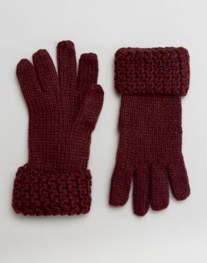 Boardwalk Вязаные перчатки Boardmans. Цвет: красный