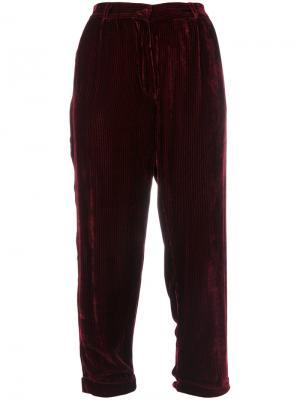 Укороченные брюки Giuliano Mes Demoiselles. Цвет: красный