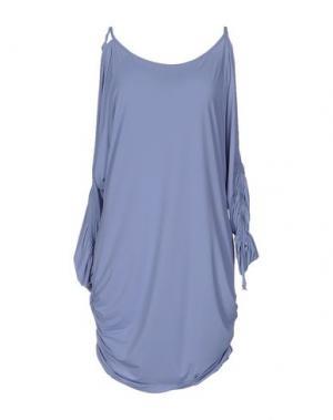Короткое платье FISICO-CRISTINA FERRARI. Цвет: небесно-голубой