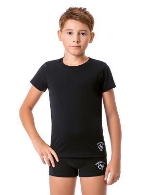 Футболка для мальчиков Nirey. Цвет: черный