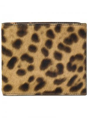 Кошелек с леопардовым узором Maison Margiela. Цвет: коричневый