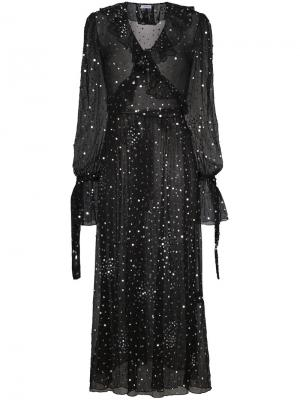 Платье с запахом и пайетками Ashish. Цвет: чёрный