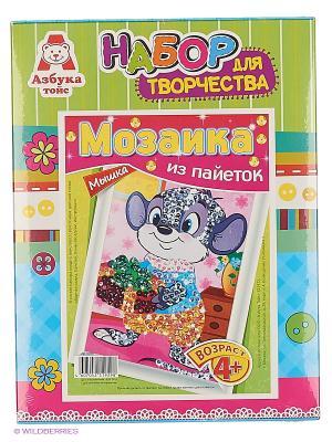 Картина из пайеток Мышка Азбука Тойс. Цвет: зеленый, голубой