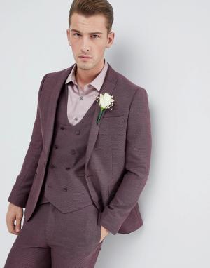 ASOS Фактурный приталенный пиджак Wedding. Цвет: фиолетовый
