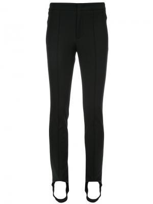Эластичные брюки скинни Moncler Grenoble. Цвет: чёрный
