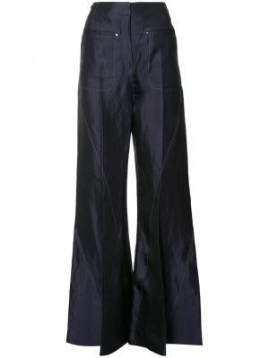 Расклешенные брюки Esteban Cortazar. Цвет: синий