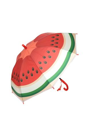 Зонт Mitya Veselkov. Цвет: зеленый, красный