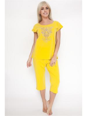 Пижама Vis-a-vis. Цвет: горчичный