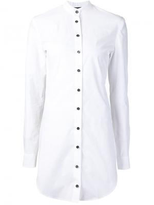 Рубашка с открытой спиной Mads Dinesen. Цвет: белый