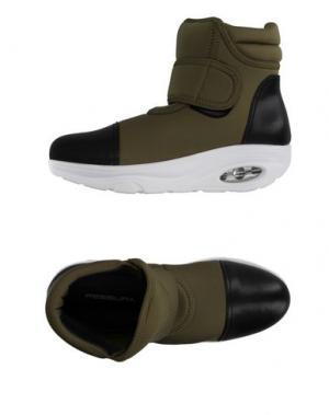 Высокие кеды и кроссовки FESSURA. Цвет: зеленый-милитари