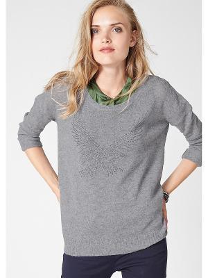 Пуловер S.OLIVER. Цвет: серый