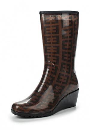 Резиновые сапоги Mon Ami. Цвет: коричневый