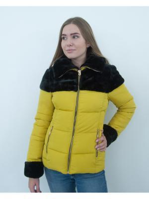Куртка Ampir Style. Цвет: желтый
