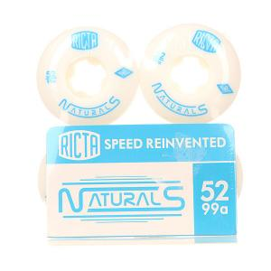 Колеса для скейтборда  Naturals White 100A 52 mm Ricta. Цвет: белый,голубой
