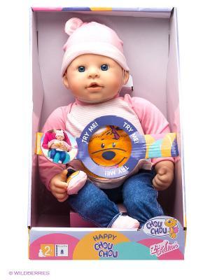 Игрушка CHOU Кукла Счастливая, 42 см, дисплей ZAPF. Цвет: синий, розовый, белый
