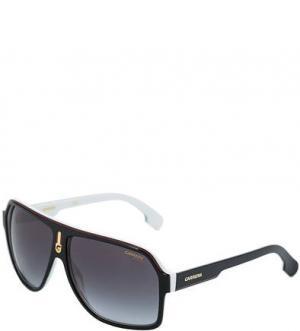 Солнцезащитные очки в пластиковой оправе Carrera. Цвет: черный
