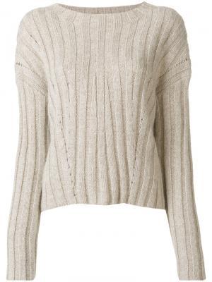 Классический трикотажный свитер Dondup. Цвет: телесный