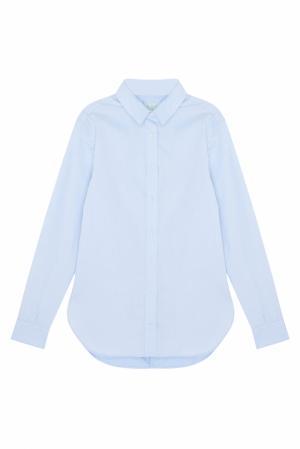 Хлопковая рубашка MoS. Цвет: голубой