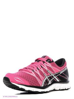 Беговые  кроссовки Gel-Attract 4 ASICS. Цвет: малиновый, черный, серебристый