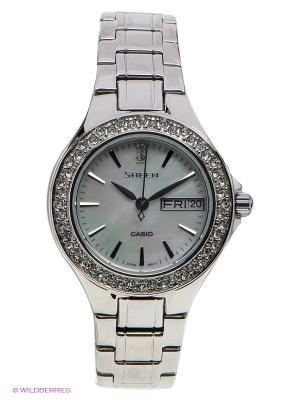 Часы Sheen SHE-4800D-7A CASIO. Цвет: серебристый