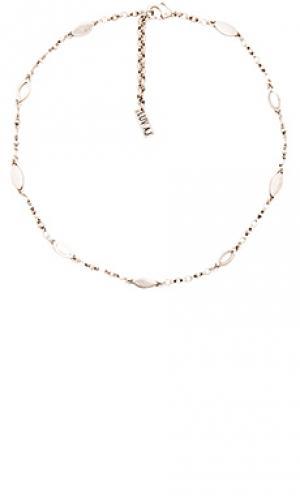 Цепочка-чокер marquise Luv AJ. Цвет: металлический серебряный