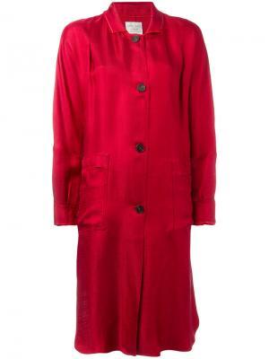 Пальто с панельным дизайном Forte. Цвет: красный