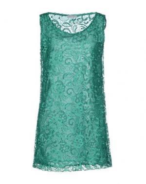 Короткое платье DANIELA FARGION. Цвет: зеленый