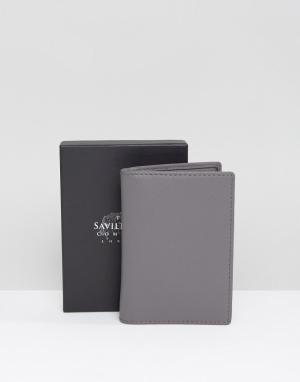 Saville Row Футляр для пластиковых карт с контрастной внутренней отделкой. Цвет: серый