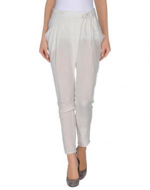 Повседневные брюки TUA NUA. Цвет: светло-серый