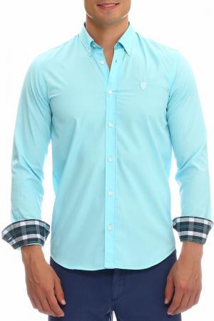 Рубашка Galvanni. Цвет: turquoise